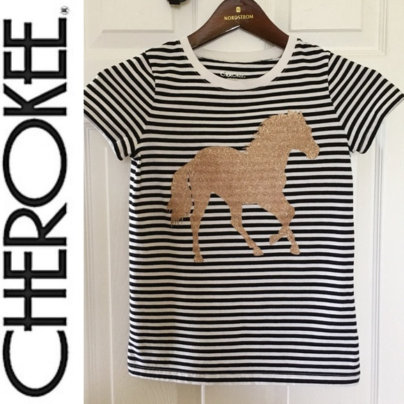 2e6a5968 Cherokee Shirts & Tops | Girls Striped Tshirt | Poshmark
